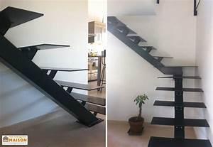 Escalier Quart Tournant Haut Droit : best escalier moderne metal photos design trends 2017 ~ Dailycaller-alerts.com Idées de Décoration