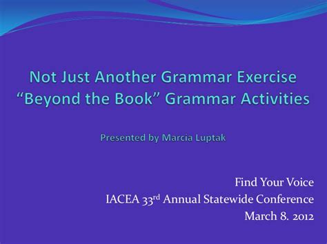 Not Just Another Grammar Exercise Presentation