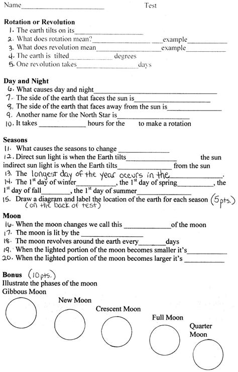 6th grade earth science worksheets worksheets for all