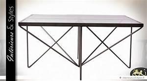 Table Basse Carrée Design : table basse design carr e en m tal verre et bois int rieurs styles ~ Teatrodelosmanantiales.com Idées de Décoration