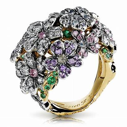 Faberge Ring Forget Jewelry Rings Flower Fire