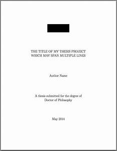 Title Page For Dissertation Draw And Write Paper Cover Page For