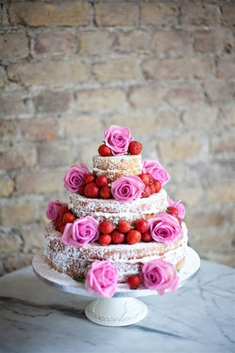 naked wedding cakes ideas  rustic naked wedding cakes ideas