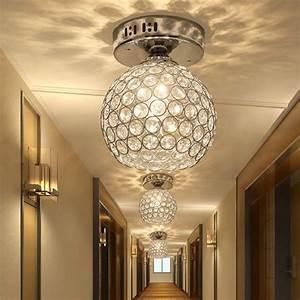 Silver k crystal ceiling light aisle lamp corridor