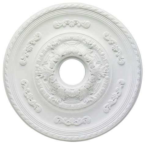 westinghouse split ceiling medallion westinghouse sofia 21 in white ceiling medallion 7775700