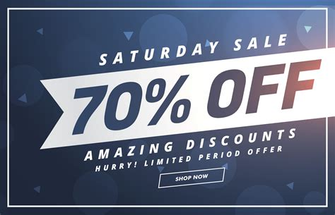 amazing saturday discount and offer template design ...