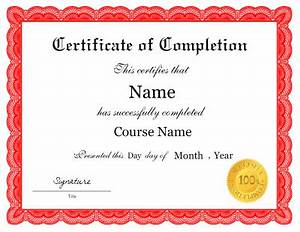 Course Completion Certificate Format Word Pin By Hathaway On Templates Certificate Of