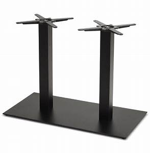 Pied De Table : pied de table nero double 75 en m tal noir ~ Teatrodelosmanantiales.com Idées de Décoration
