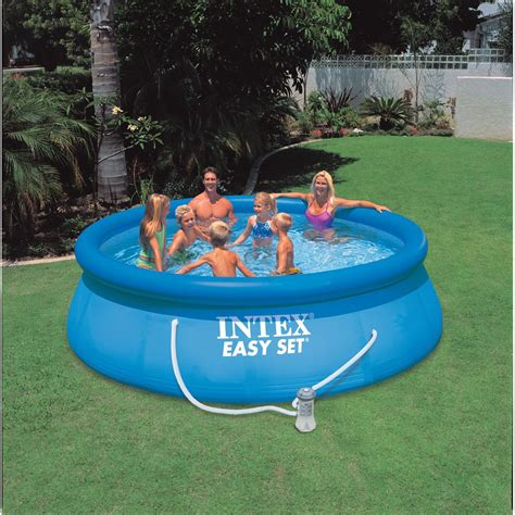Intex Easy Set Above Ground Swimming Paddling Pool 10ft X