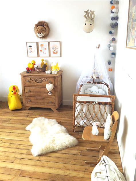 chambre retro inspirations idées déco pour une chambre bébé nature et