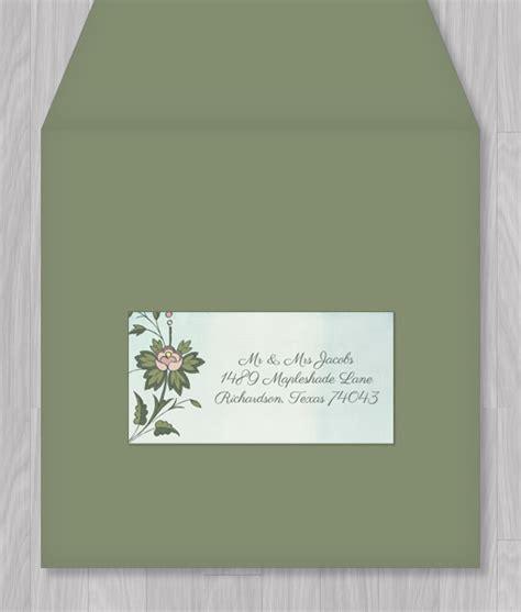 watercolor flowers address label template  print