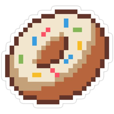 "This tag indicates that an image exhibits a distictive pixelized style (e.g. ""Donut, pixel art"" Stickers by xtrolix 