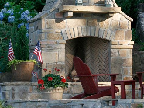 outdoor stone fireplace warming  exterior space traba