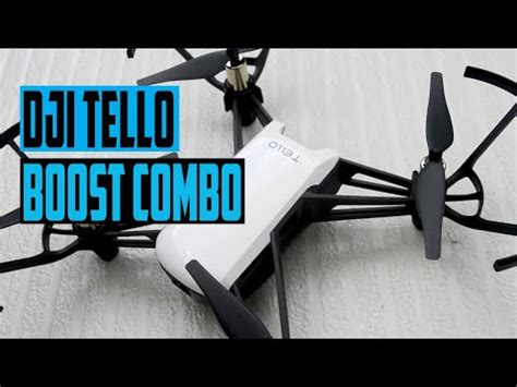 dji tello boost combo unboxing footage youtube