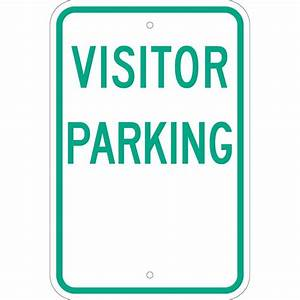 Brady 18 in x 12 in Aluminum Visitor Parking Sign-80078