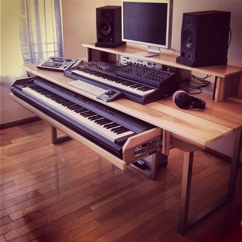 bureau musique how to a slide out piano shelf search