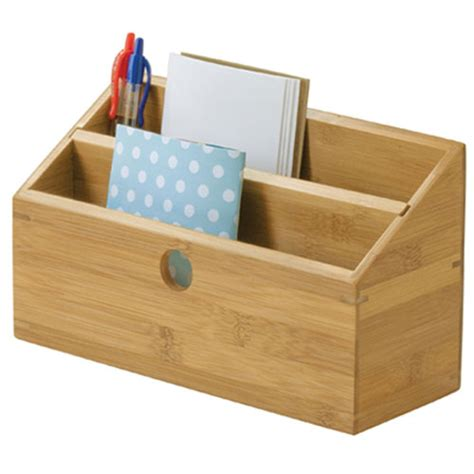 Bamboo Desktop Bill And Mail Organizer In Mail Organizers