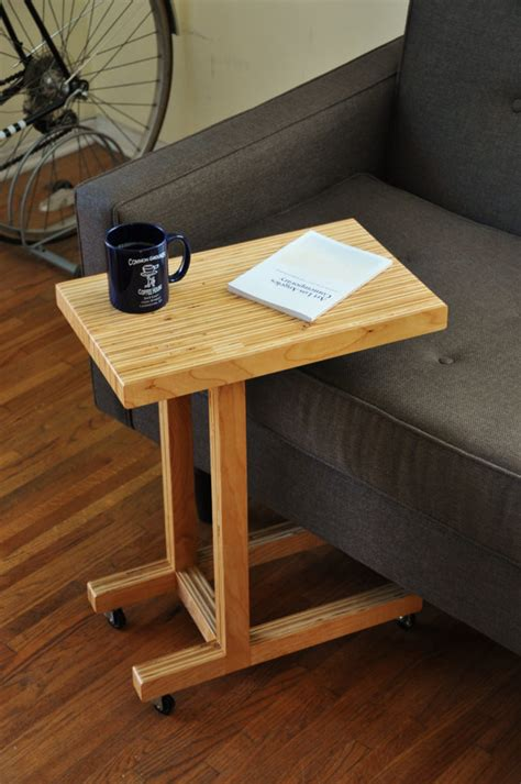 diy sofa table plans handmade plywood side table