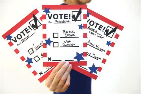 voting ballot ideas  pinterest election day