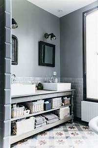 nuances de bleu style industriel frenchy fancy With salle de bain design avec décoration de tables