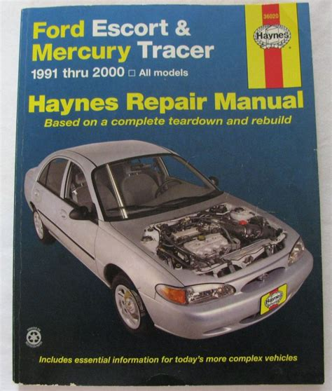 car repair manuals online pdf 1990 mercury grand marquis engine control haynes service repair manual 36020 ford escort mercury tracer 1991 2000 repair manuals