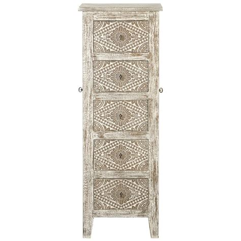 White Jewelry Armoire by 5 Drawer Jewelry Armoire With Mirror In Silver