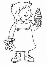 Rosie Eating Ice Cream Coloring Pages Printable Caillou Categories Icecream sketch template