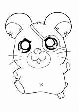 Coloring Pages Hamtaro Hamster Printable Sheets Cartoon Picgifs Animal Cartoons Series Tv sketch template