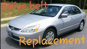 How To Change Drive Belt Honda Accord 03