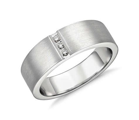 modern channel diamond ring in platinum 1 12 ct tw