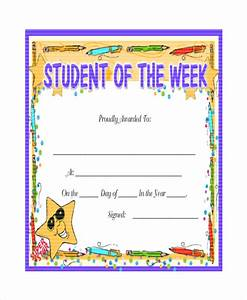 24 sample printable certificate templates free sample With student of the week certificate template