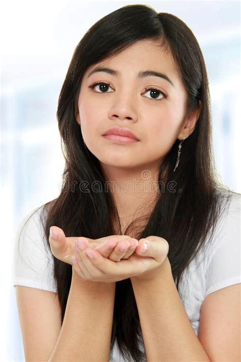 Girl Begging Something Royalty Free Stock Image