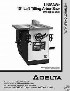 Delta Table Saw Model 36