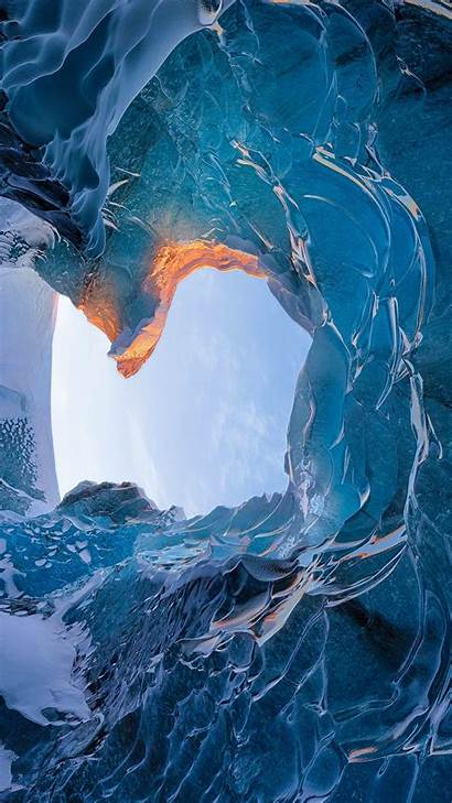 Cave Ice Iceland Wallpapers Skaftafell Android Iphone