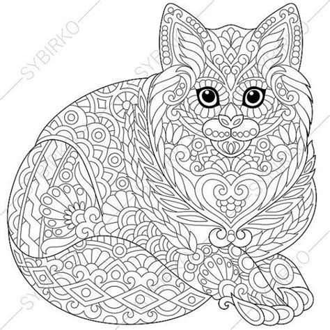 cat kitten coloring page  national pet day greeting