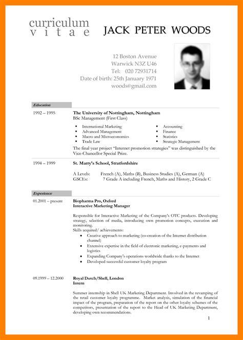 Resume Format International Standard by 8 Standard International Cv Format Day Care Receipts