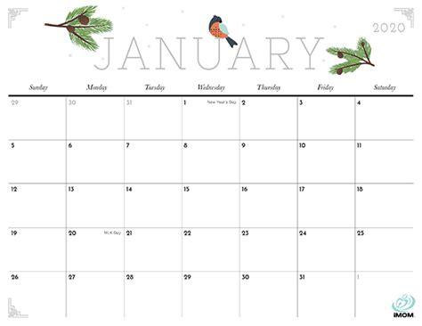crafty  cute printable calendar  moms imom
