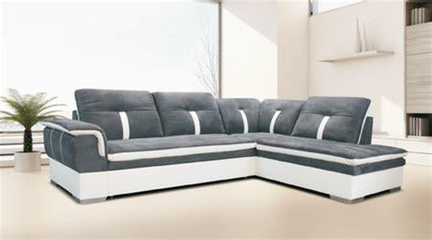 canapé d angle convertible gris et blanc canape d 39 angle à droite convertible galaxia blanc gris