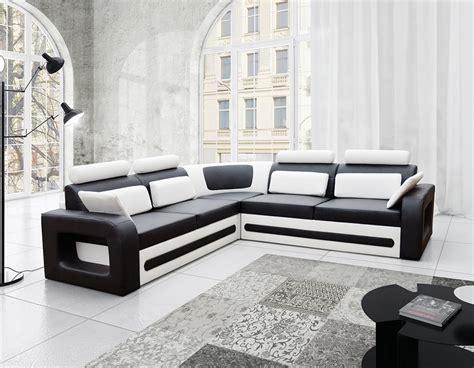 canapé d angle convertible noir et blanc canap d 39 angle convertible noir et blanc avec coffre aglibo