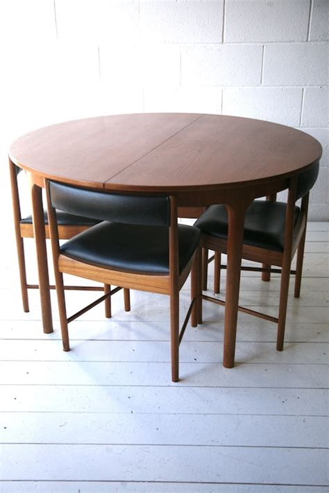 1960s teak dining table and 4 chairs and chrome