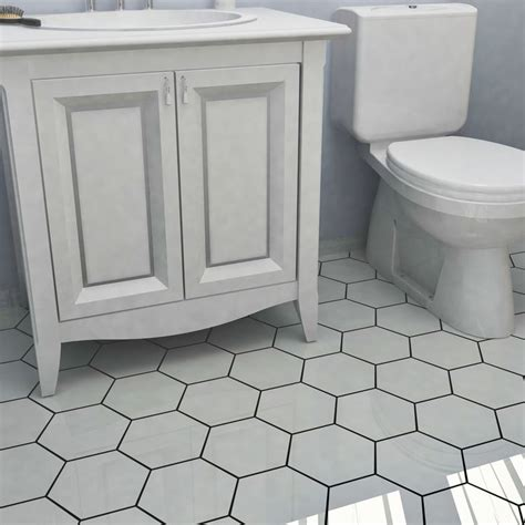 best 25 hexagon tile bathroom ideas on