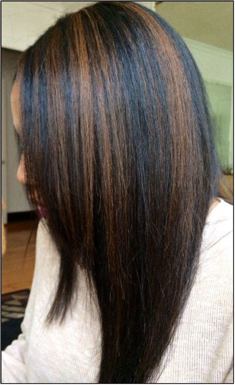 Black Hairstyles With Highlights by Black Hair And Caramel Highlights Hairstyle Hairtyles