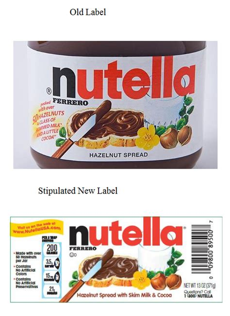 nutella label template printable label templates