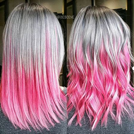 pink ombre hair ideas hairstyles  haircuts