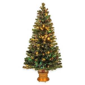 national tree 5 foot fiber optic evergreen fireworks pre lit christmas tree bed bath beyond