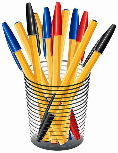 Pens Pen Clipart Clip Cup Metal Box