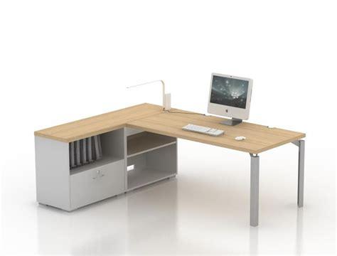 meuble bas de bureau bureau droit epure 160x80 avec meuble de rangement bas