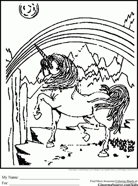 unicorn rainbow coloring pages coloring home
