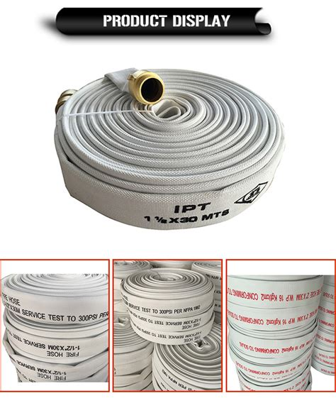 pvc lined fire hose purchased  rolls buy types  fire