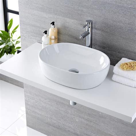 Lavabi D Appoggio In Ceramica Per Il Bagno Lavabo Bagno Da Appoggio Ovale 480x350mm In Ceramica